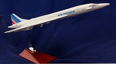 FRENCH CONCORDE LARGE PLANE MODEL 1:150 STAND APX 45cm RESIN AIR FRANCE