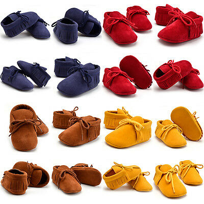 AU Canis Toddler Baby Boy Girl Soft Sole Boots Tassels Moccasin Crib Pram Shoes