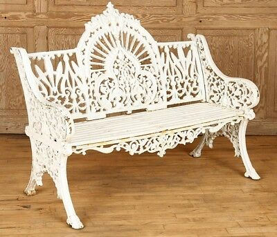 CAST IRON GOTHIC STYLE BENCH BY PIERCE WEXFORD Lot 448