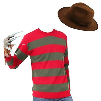 Freddie Krueger Nightmare on Elm Street Movie Halloween Fancy Dress Costume Claw
