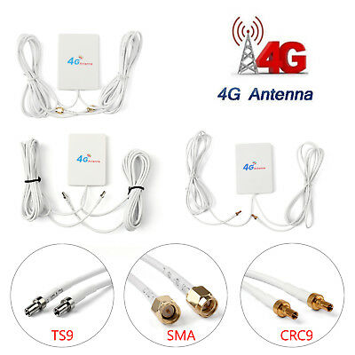 28dBi 4G 3G LTE 2 × Plug Broadband Antenna Signal Amplifier For Mobile Router AU