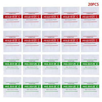 20pcs PH Buffer Solution Powder PH Fr Test Meter Measure Calibration 4.01 6.86