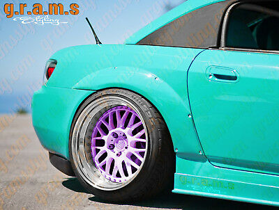 Honda S2000 ASM Style +25mm Rear Fender Flares Overfenders Wide Arch v6