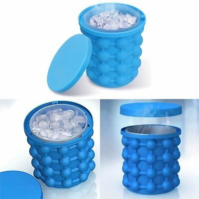 Ice Cube Maker Genie Silicone Ice Bucket Dual-use Revolutionary Space Saving CA