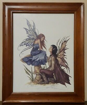 Amy Brown Print Always Fairy Couple SIGNED 1999 Limited Edition Very Rare 11×14