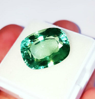 Cushion Shape 16.47 Ct Loose Gemstone Lab Created Brazilian Emerald