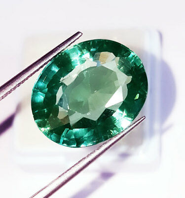 19.37 Ct Oval Shape Loose Gemstone Lab Created Brazilian Emerald