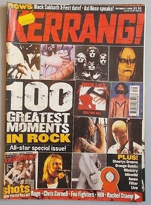 KERRANG #770 Oct. 1999 - 100 GREATEST MOMENTS IN ROCK / MINISTRY / IDLEWILD