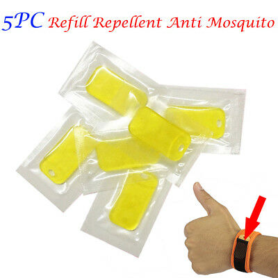 5PC Refill Repellent Anti Mosquito For Wrist Band Mosquito Bracelet Repeller NEW