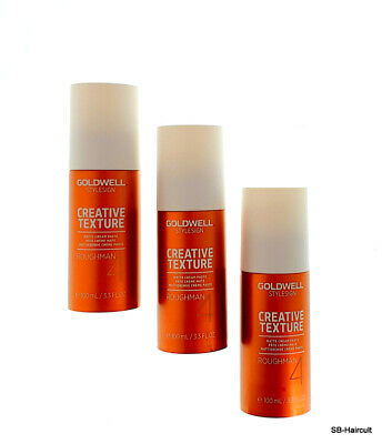 3x Goldwell StyleSign Creative Texture ROUGHMAN, 100 ml mattierende Creme-Paste
