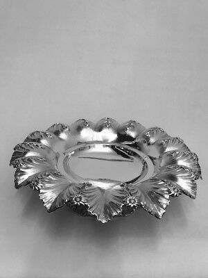 WILLIAM IV SOLID SILVER DESERT DISH - LONDON -1832 by I Wrangham & W Moulson