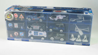 Police City Heroes Carrying Case 25-Piece Playset Diecast cars