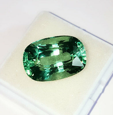 Lab Created Emerald Cushion Shape 17.52 Ct Loose Gemstone Brazilian