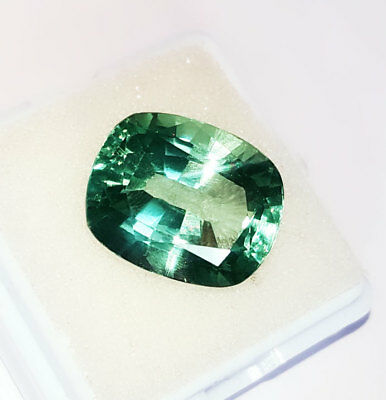 14.52 Ct Cushion Shape Loose Gemstone Lab Created Brazilian Emerald