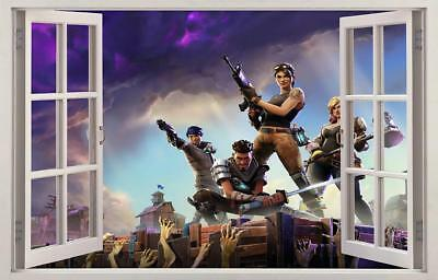 Fortnite 3D Window Decal Wall Sticker Home Decor Art Mural Graphic J1297