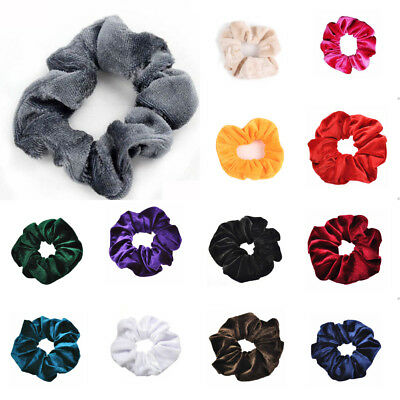 Women Elastic Hair Rope Ring Scrunchie Tie Ponytail hair accessory Holder Band