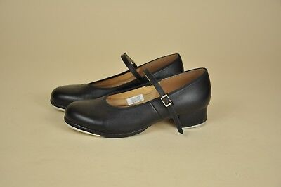 Women's Bloch Techno Tap Dance Shoes Size 9 Black Leather Mary Jane