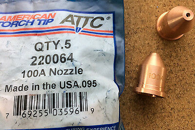 Nozzle T100 100A Plasma Cutting American Torch Tip 220064 PMAX1650 Multi Qty