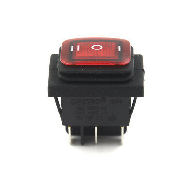 Red 3 Position 6Pin DC 12V Waterproof Car Boat LED Rocker Switch Latching TK