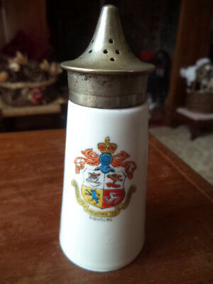 Vintage Pepperette With Epns Top-Commemorative For Douglas Isle Of Man- Free P&p