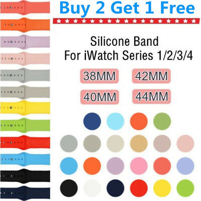 Silicone Bracelet Band Strap For Apple Watch iWatch Sports Series 1/2/3 38/42mm