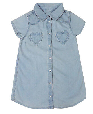 Girls Ex Store Denim Shirts Long Short Sleeve Shirt - 3 Months To 5 Years