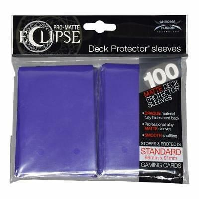 1 Pack of 100 Ultra Pro-Matte Deck Protector Sleeves ECLIPSE ROYAL PURPLE