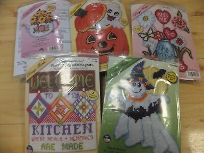 Assorted Plastic Canvas Kits Winter / Halloween / Spring / Love / Christmas