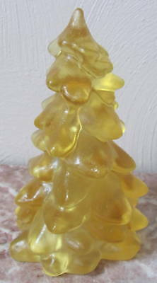 Christmas Holiday Tree - Honey Satin Frosted Glass - Mosser USA - Large 8""