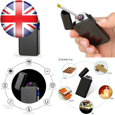 dibikou Electric Dual Arc Windproof lighter Flamless USB Rechargeable...
