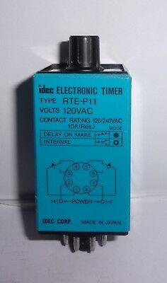 Idec Rte  P11 Electronic Timer  120 - 240 Vac  10 Amp Very  Lightly Used