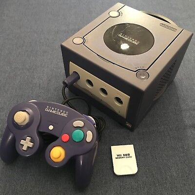NINTENDO GAMECUBE PURPLE Console complete set up + With 9 Games