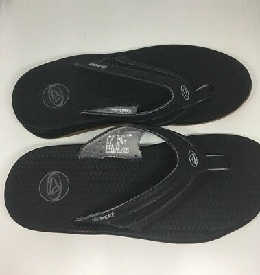 0c4bc1e21b4 Reef Men s 2444 Flex Black Flip Flop Outdoor Sandal Size 7 New in Box!