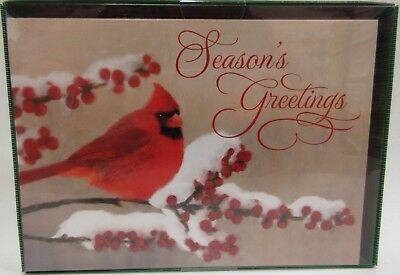 NEW Winter Cardinal Christmas Cards 18 cards & Envelopes 869000