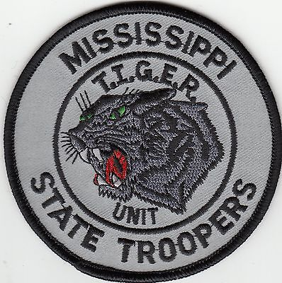 Mississippi State Troopers T.i.g.e.r. Unit Ms Police Shoulder Patch