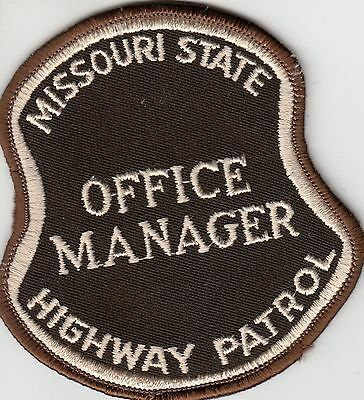 Missouri State Highway Patrol Office Manager (Older) Police Patch Mo