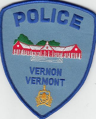 Vernon Vermont Police Shoulder Patch Vt