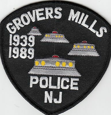Grovers Mills Police (Ufo's) 1939-1989 New Jersey Nj Shoulder Patch