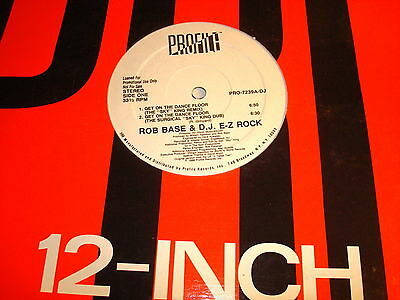 Rob Base & Dj. E-Z Rock-Get On The Dance Floor X4+/profile Pro-7239A-D Nm/vg 12""