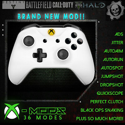 XBOX ONE RAPID FIRE CONTROLLER - NEW MOD - 36 Modes - Crete Yellow LED Blackout