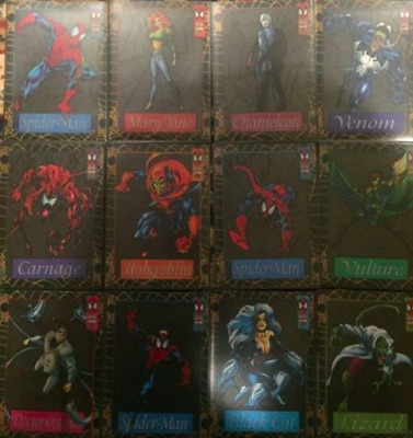 1994 Marvel Spiderman Suspended Animation Complete Set of 12 Cards