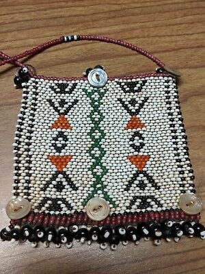 Vintage African Zulu Beaded Love Letter Necklace