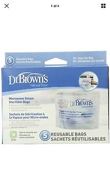Dr.Brown's Microwave Steam Sterilizer Bag Bottle Feeding Baby infant Accessories