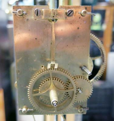 Antique Early American Weight Driven Banjo Clock Movement 1870's Boston