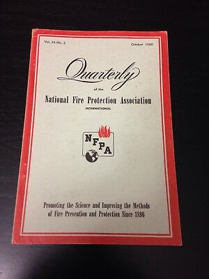 Quarterly National Fire Protection Association October 1960