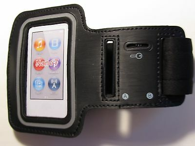 Black Sport Running Gym Armband Cover Case For Apple iPod Nano 7 New 7th Gen