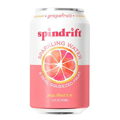 Spindrift Grapefruit Sparkling Water | 12-Fluid-Ounce Cans | Pack of 24