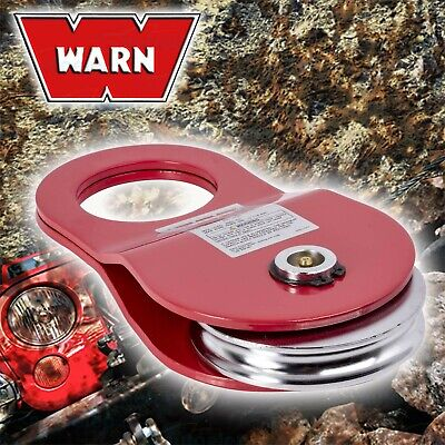 Warn 8 Tonne Snatch Block Pulley Recovery Winch Cable Or Rope 4X4 4Wd 8000Kg