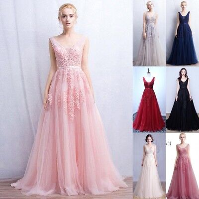 Evening Long Prom Dress Formal Party Ball Gown Bridesmaid Dress US STOCK