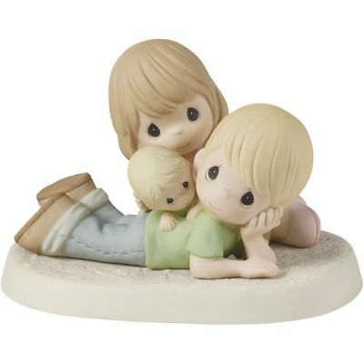 Precious Moments PRECIOUS IS OUR FAMILY #153023, Porcelain Bisque Figurine